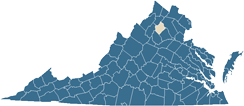 Map of Rappahannock County